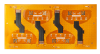 4L Flex PCB with hard Gold Plating