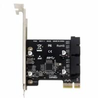 PCI-E to 2*USB3.0 19PIN Hub Expansion card